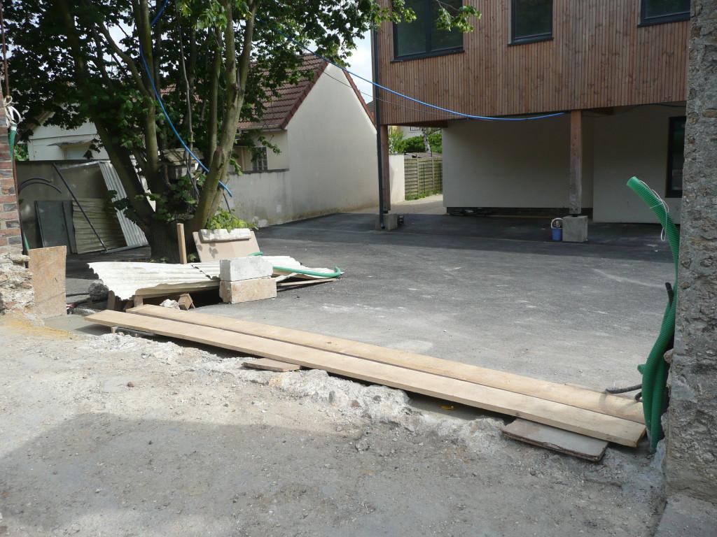 travaux pour le portail